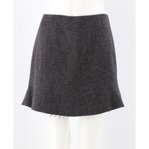 Madewell Fully Lined Flounce Wool Blend Skirt